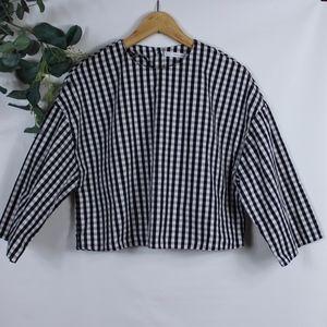 Zara Checkered Crop Top